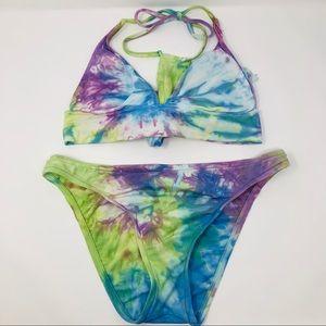 Lucky Brand Tie Dye 2 Piece Bikini Swimsuit